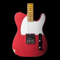Fender 1955 Custom Shop Relic Esquire Electric Guitar In Faded Fiesta Red