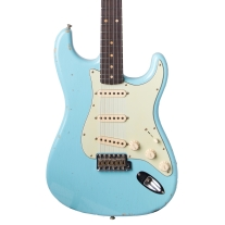 Fender 1960 Relic Stratocaster Electric Guitar In Daphne Blue