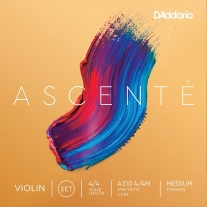 D'Addario Ascenté Violin String Set, 4/4 Scale, Medium Tension