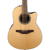 Ovation Applause AB2412 Balladeer Mid Depth 12-String Acoustic Electric, Natural