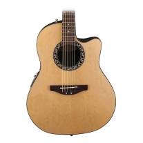 OVATION APPLAUSE BALLADEER, AB244 ACOUSTIC ELECTRIC, MID-DEPTH CUTAWAY, NATURAL