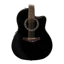 OVATION APPLAUSE BALLADEER, ACOUSTIC ELECTRIC, MID-DEPTH CUTAWAY, BLACK