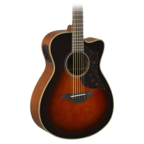 Yamaha AC1MTBS Small Body Acoustic Electric Guitar in Tobacco Sunburst