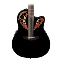 Ovation Applause AE445 Elite Mid Depth Acoustic Electric Guitar, Black