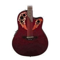 Ovation Applause AE44RR Elite Mid Depth Acoustic Electric Guitar, Ruby Red
