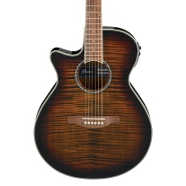 Ibanez AEG19LIIPIB Left Handed Acoustic Electric Guitar In Tigerburst High Gloss