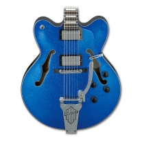 Ibanez AFD75TBSP Artcore Hollow Body Electric Guitar in Blue Sparkle