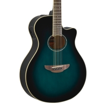 Yamaha APX600BL Thinline Acoustic Electric Guitar in Oriental Blue Burst