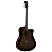 Luna Guitars ARTVDce Dreadnought Acoustic Electric Guitar In Distressed Sunburst