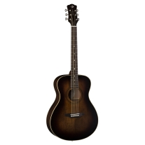 Luna Guitars Solid Spruce Top Concert Acoustic Guitar In Distressed Sunburst