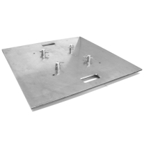 Global Truss Base Plate 30x30A, Aluminum with Handles