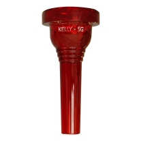 KELLY Crystal Red 5G Bass Large Shank Trombone or Euphonium Mouthpiece