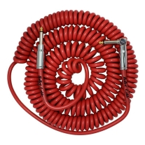 Bullet Cable 30ft Premium Vintage Coil Cable - Red