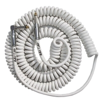 Bullet Cable 30ft Premium Vintage Coil Cable - White