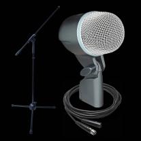 Shure Beta 52A Dynamic Microphone Bundle- Beta 52A Boom Stand & XLR Cable!