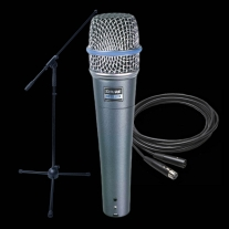Shure Beta 57A Dynamic Mic Bundle- Shure Beta 57A Boom Stand and XLR Cable!