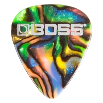 Boss BPK-12-AH Celluloid Pick Heavy ABALONE 12-Pack