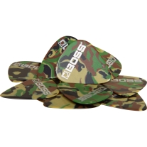 Boss BPK-12-CH Celluloid Pick Heavy CAMO 12-Pack