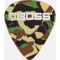 Boss BPK-12-CT Celluloid Pick Thin CAMO 12-Pack