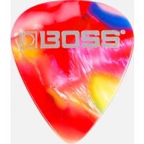 Boss BPK-12-Mm Celluloid Pick Medium MOSIAC 12-Pack