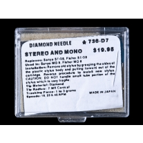 Diamond Needle Stereo and Mono 736-D7 Replacement Stylus