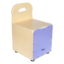 Stagg Kid's Cajon with Backrest Purple