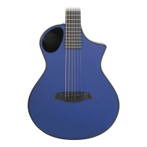 Composite Acoustics Cargo Guitar with Electronic In Solid Blue with Gigbag
