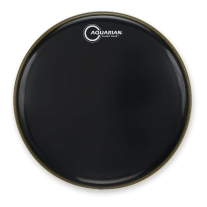 "Aquarian Drumheads CC14BK Classic Clear 14"" Tom Tom Drum Head, Gloss Black"