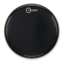 "Aquarian Drumheads CC18BK Classic Clear 18"" Tom Tom Drum Head, Gloss Black"