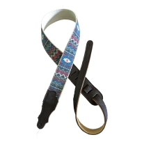 """Franklin Strap 2"""" Blue / Red Old Aztec Graphic Strap"""