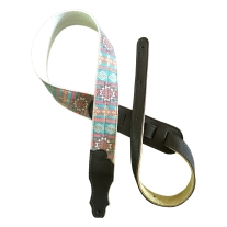 """Franklin Strap 2"""" Turquoise Old Aztec Graphic Strap"""