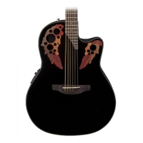 Ovation CE445 Celebrity Elite Mid Depth Acoustic Electric Guitar, Black