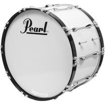 Pearl Competitor Marching Bass Drum #33 Pure White 26x14
