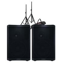QSC CP8 Powered Speaker Pair Bundle
