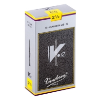 Vandoren CR6125 Eb Clarinet V.12 Reeds Strength 2.5; Box of 10