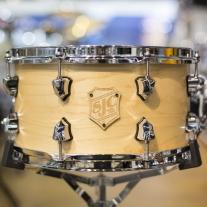 SJC Custom 7x13 Maple Snare Drum in Satin Natural
