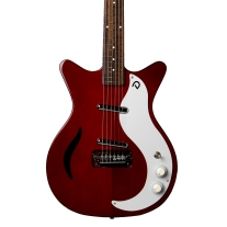 Danelectro D59M Spruce Semi Hollow Electric Guitar In Chianti Red