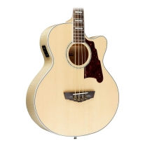 D'Angelico Mott Cutaway Acoustic Bass Natural