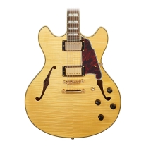 D'Angelico Excel DC Semi-Hollow Electric Guitar - Natural