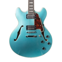 D'Angelico Premier DC 12-String Semi-Hollow Electric Guitar - Ocean Turquoise