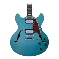D'Angelico Premier DC Semi-Hollow W/Stop-Bar Tailpiece - Ocean Turquoise