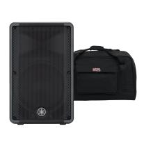 """Yamaha DBR12 12"""" Active Speaker and Speaker Bag Bundle"""