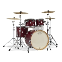 Drum Workshop Limited Edition Design Series 4pc Shell Kit in Satin Deep Cherry