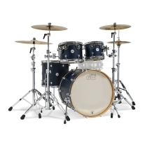 Drum Workshop Limited Edition Design Series 4pc Shell Kit in Satin Midnight Blue