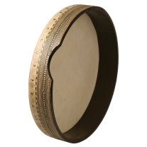 Mid-East Pretuned Goatskin Head Deff with Wood Mosaic 16-Inch(Package of 2)