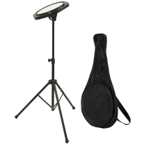 On-Stage DFP5500 Drum Practice Pad with Stand and Bag