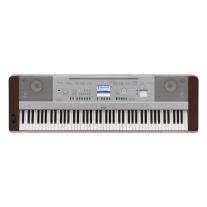 Yamaha DGX-640W Portable Grand Piano Keyboard with 88 Weighted Keys in Walnut