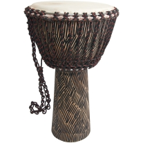 MID-EAST ROPE TUNED SHEESHAM DJEMBE WITH GOATSKIN HEAD