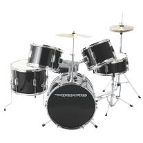 DrumFire DKJ5500-GB 5-Piece Junior Drumset in Gloss Black