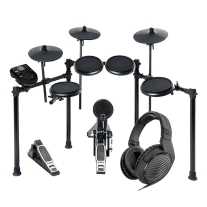Alesis DM NITRO Electronic Drum Kit Bundle with Sennheiser HD200 Pro Headphones